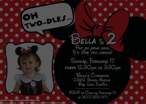 free minnie mouse birthday invitation templates free minnie mouse 1st birthday invitations template