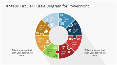 using circular diagrams to model a process cycle in powerpoint 8 step circular puzzle diagram template for powerpoint