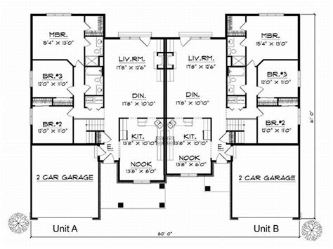Unique Duplex Plans by 1000 Ideas About Duplex House Plans On Duplex