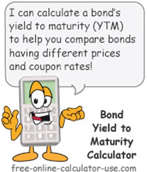 div yield formula bond yield to maturity calculator for comparing bonds