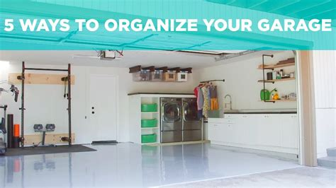 ways  organize  garage youtube