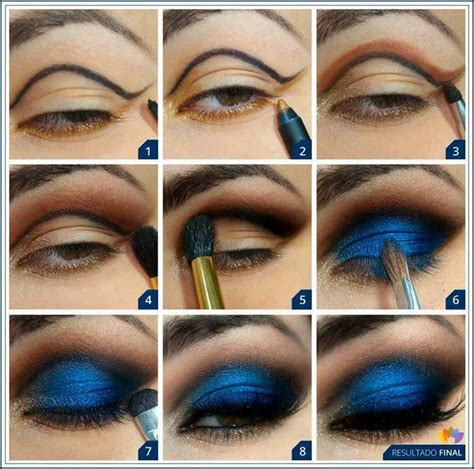 Eyeshadow Blue 12 gorgeous blue and gold eye makeup looks and tutorials pretty designs