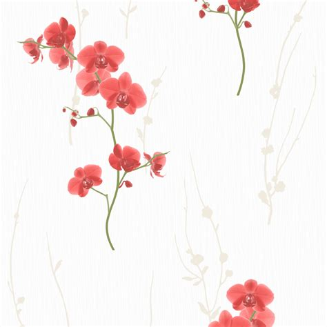 Color Bedroom Ideas floral wallpaper orchid murivamuriva