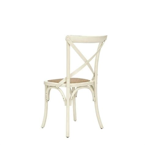 safavieh logan x oak dining chair in antique white set of