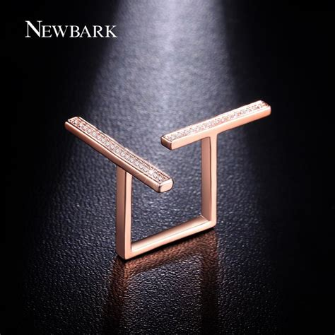 T Bar Top ヾ ノnewbark Opening T Bar Ring Pave Pave Top