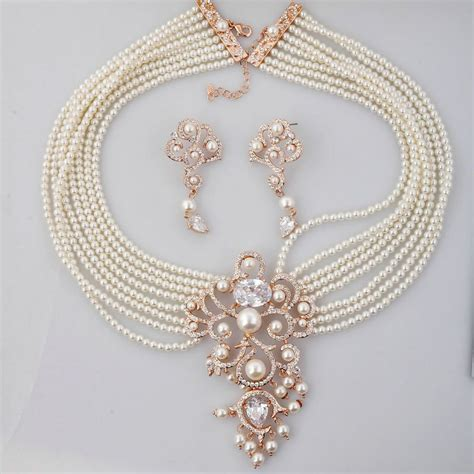 pearl necklace design elegance of living indian pearl necklace designs