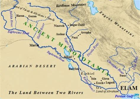 ancient mesopotamia map ancientenvironments mesopotamia one