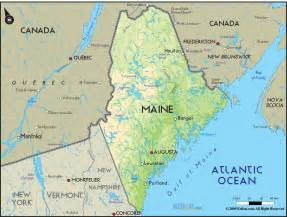 Map Of The State Of Maine by Maine Map Travel Map Vacations Travelsfinders Com
