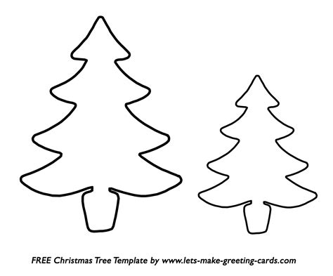 Free Christmas Tree Template Free Christmas Card Ideas Tree Template For Cards