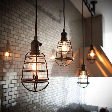 New 1 Light Chandelier Ceiling Cage Rustic Bronze Vintage Cage Lighting Pendants