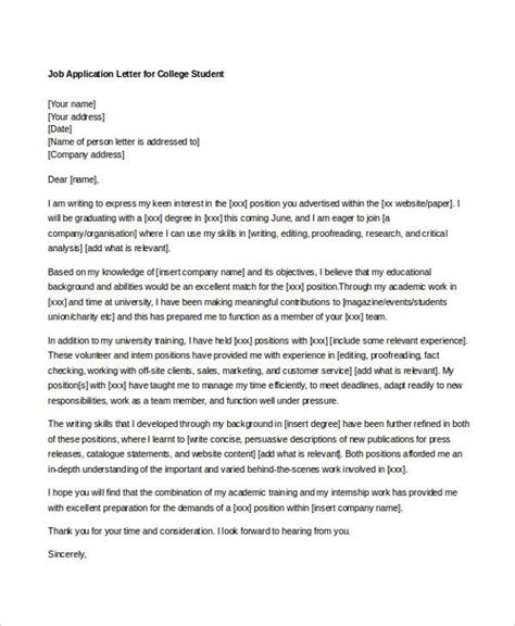 College Application Letter Uk 10 sle application letters for student free sle exle format free