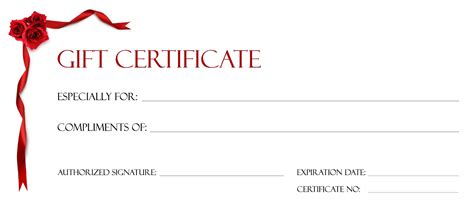 gift certificates free templates gift certificate template for blanks loving printable