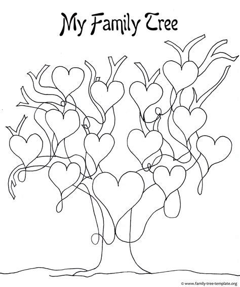 printable blank family tree    kids genealogy