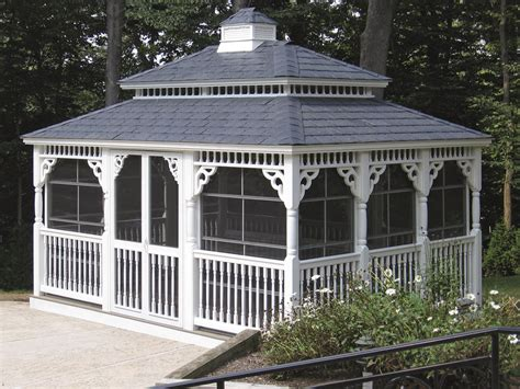 pvc gazebo vinyl patio gazebo backyard beyond