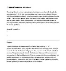 problem statement template 9 download documents in pdf