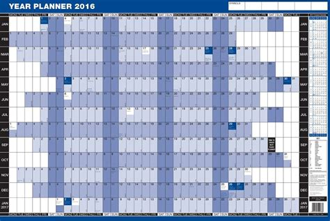 printable year planner 2016 uk calendars excel calendar template 2016