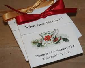 poinsettia design teacup tea favors for christmas event