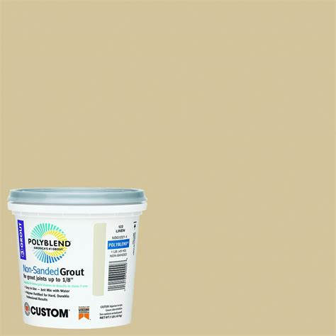 custom building products polyblend 122 linen 1 lb non