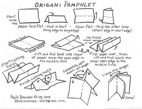 How To Make A Paper Origami Book - bookraft our own books