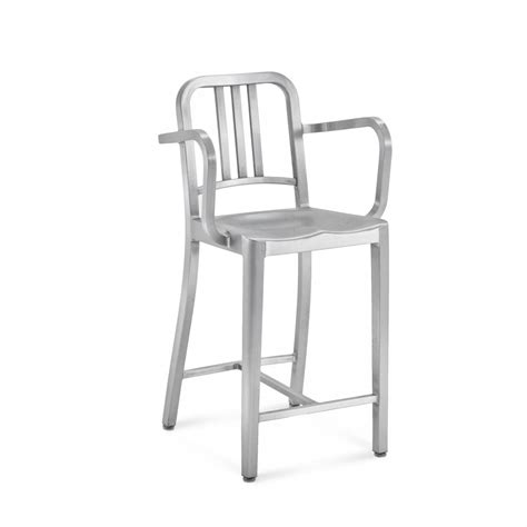 navy 174 counter stool with arms