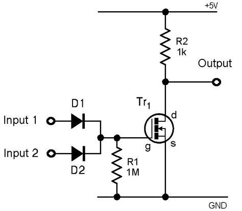 not gate using diode nor gate using diode 28 images digital logic gate tutorial basic logic gates logic families