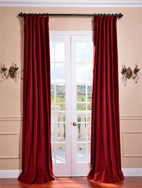 red cotton curtains claret red vintage cotton velvet curtain traditional