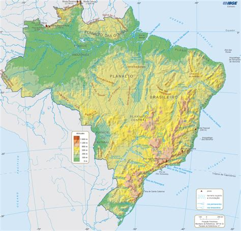 brazil physical map physical feature map of republic