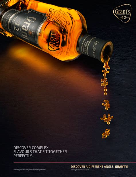 value added follow up grant grant s premium 12 year whisky on behance