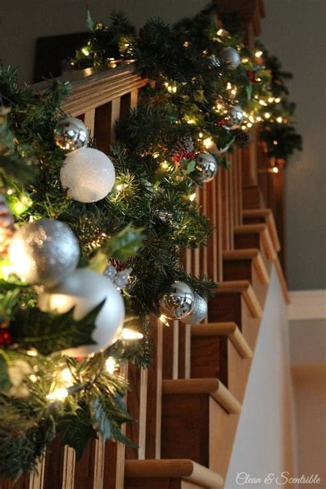 banister decorations 40 gorgeous christmas banister decorating ideas
