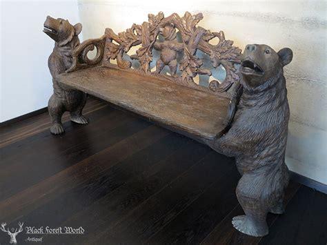 black forest bear bench black forest world blackforestworld antiques black forest woodcarving carved wood