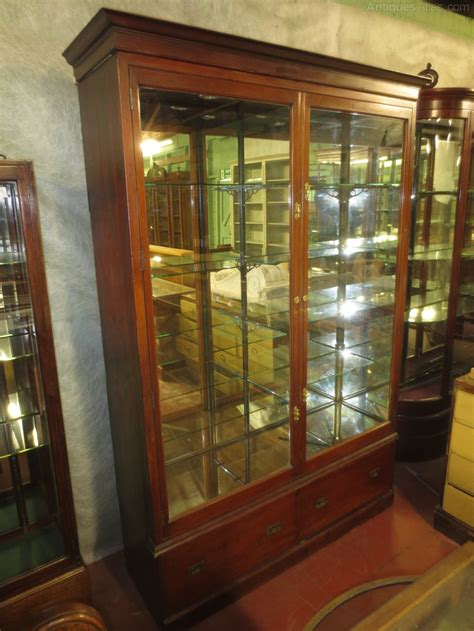 mirror backed display cabinets mahogany mirrored back shop display cabinet antiques atlas