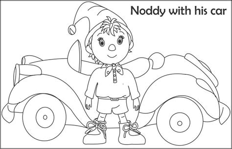noddy the taxi driver coloring page for kids