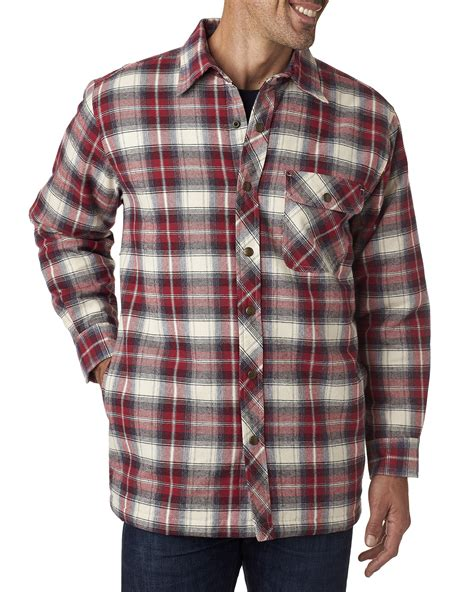 Mens Flannel Shirt Jacket With Quilted Lining by Backpacker S Flannel Shirt Jacket With Quilt Lining Bp7002 Ebay