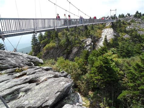 grandfather mountain mile high swinging bridge pin by rosebud meyer musick on some places i ve been