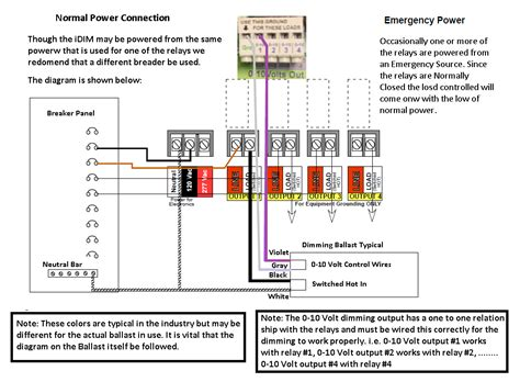 emergency relay 0 10v dimming wiring diagram wiring