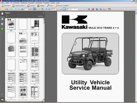 Kawasaki Mule 3010 Trans 4x4 Service Manual