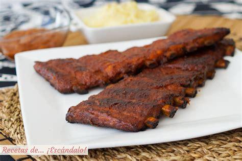 costillas de cerdo al horno con salsa barbacoa casera - Como Cocinar Costillas De Cerdo Al Horno