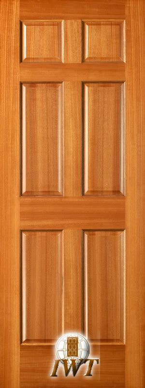 Interior Mahogany Doors International Wood Trade Mahogany 6 Panel Interior Doors