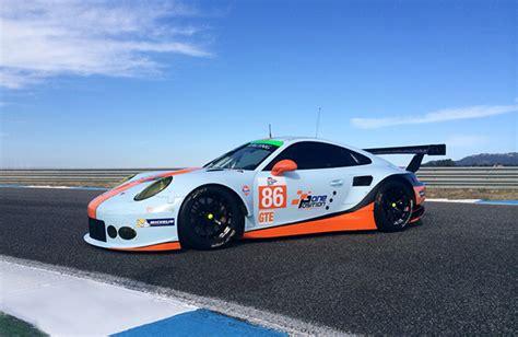 gulf racing gulf racing to run porsche 911 rsr sportscar365