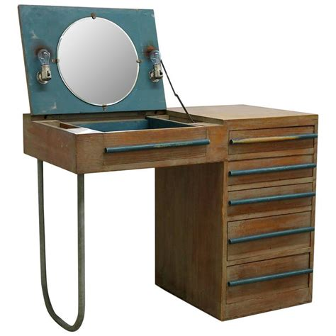 modern vanity desk 1940s modern custom built redwood vanity desk for sale at