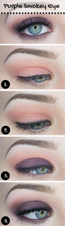 tutorial wardah eyeshadow seri d 15 gorgeous makeup looks for blue eyes purple smokey eye