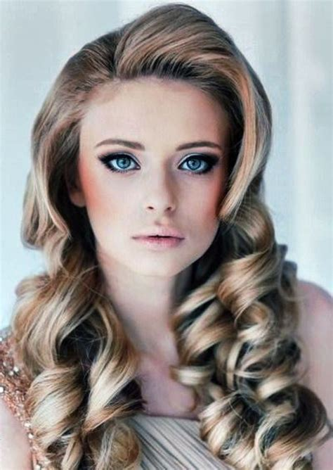 vintage hairstyles for long hair with bangs prom hair
