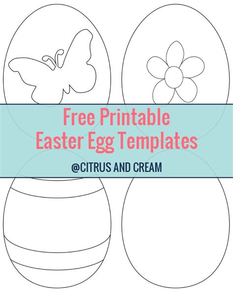 6 best images of free easter printable craft templates