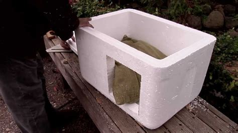 insulated cat house how to make an insulated cat bed house outdoor or indoors youtube