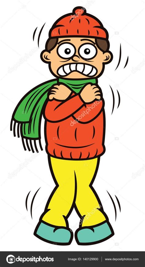imagenes de invierno dibujos animados hombre temblando de fr 237 o personaje de dibujos animados