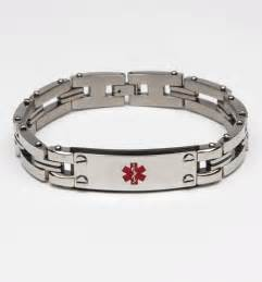 In the workshop stainless steel medical alert bracelet