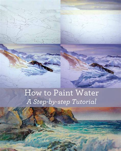 watercolor tutorial painting water learn how to paint water like a pro free tutorial download