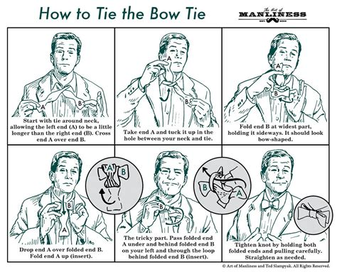 printable directions how to tie a tie how to tie a bow tie agreeordie