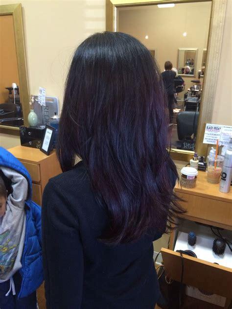 revlon iron turned hair pink streaks 25 best ideas about dark purple hair on pinterest dark