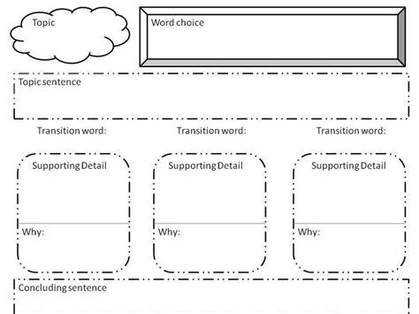 biography graphic organizer printable paragraph writing organizer english pinterest